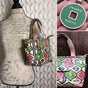 Vintage FRANCO SARTO Faux Patent Tote Handbag Bag